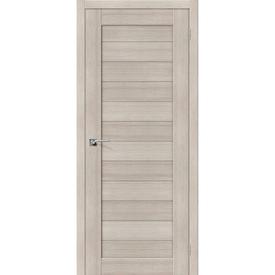 Полотно дверное глухое Порта-21 60х200 см, эко шпон, Cappuccino в Калининграде