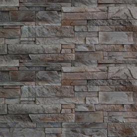 Плитка фасадная цементная КАРПАТЫ Серый, 40х9,5х1,8 см, уп 1м2 в Калининграде