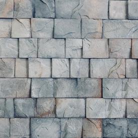 Плитка фасадная цементная ИРЛАНДСКИЙ Серый, мультиформат, уп 1м2 в Калининграде