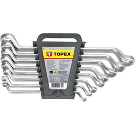 Набор ключей накидных изогнутых 8шт (6х7мм-20х22мм) TOPEX в Калининграде