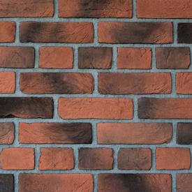Плитка фасадная цементная КИРПИЧ Бельгийский красный 24х6,5х1см, уп 1м2 в Калининграде