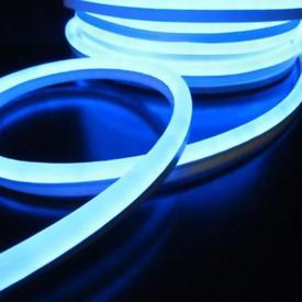 Лента Гибкий Неон 8х16мм GLS-2835-120-9.6-220-NL-IP67-IB ледяной синий (50м/рул) GENERAL в Калининграде