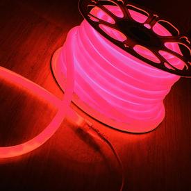 Лента Гибкий Неон 8х16мм GLS-2835-120-9.6-220-NL-IP67-P розовый (50м/рул) GENERAL в Калининграде