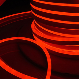 Лента Гибкий Неон 8х16мм GLS-2835-120-9.6-220-NL-IP67-R красный (50м/рул) GENERAL в Калининграде