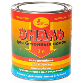 Эмаль для бетонных полов серая 3 кг Новбытхим в Калининграде