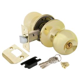 Ручка-защелка дверная под ключ/фиксатор Шар Punto 6072 SB-E золото матовое в Калининграде