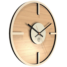 Часы круглые 30*30см, бук, рыжий в Калининграде