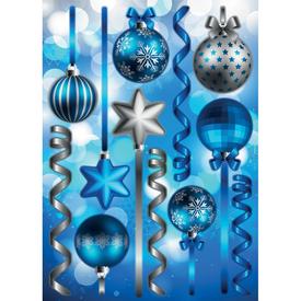 Наклейка декоративная Синие шарики 35х50 см в Калининграде