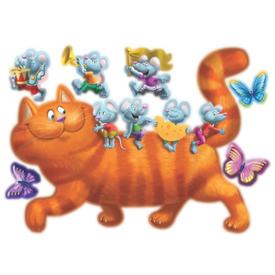 Наклейка декоративная Кошки-мышки 50х70 см в Калининграде
