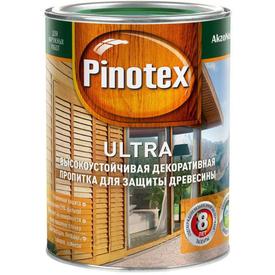 Пропитка деревозащитная Ultra махагон 1 л Pinotex в Калининграде