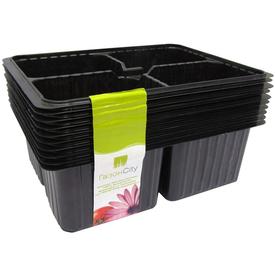 Мини-кассета рассадная 4 ячейки (уп.10 шт), черная в Калининграде