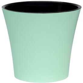 """Горшок для цветов пластик """"АРТЕ"""" 1,2 Л.  высота 12,5см Цвет мята-черный в Калининграде"""