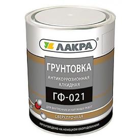 Грунт ГФ-021 красно-коричневый 2,5 кг Лакра в Калининграде