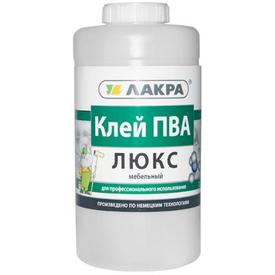 КЛЕЙ ПВА мебельный ЛЮКС ЛАКРА 0,9кг в Калининграде