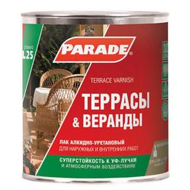 Лак алкидно-уретановый для террас матовый 2,5 л Parade в Калининграде