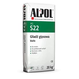 Шпаклевка гипсовая белая финишная ALPOL AGS22 20кг в Калининграде