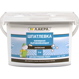Шпаклевка готовая латексная финишная ЛАКРА 3кг в Калининграде