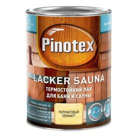 Лак для бани и сауны Pinotex Lacker Sauna термостойкий 1 л в Калининграде