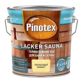 Лак для бани и сауны Pinotex Lacker Sauna термостойкий 2,7 л в Калининграде