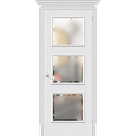 Полотно дверное остекленное Классико-17.3 80х200 см, эко шпон, Virgin в Калининграде