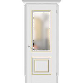 Полотно дверное остекленное Классико-33G-27 80х200 см, эко шпон, Virgin в Калининграде