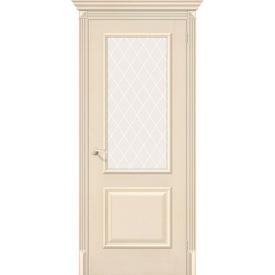 Полотно дверное остекленное Классико-13 70х200 см, эко шпон, Ivory в Калининграде