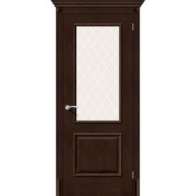 Полотно дверное остекленное Классико-13 70х200 см, эко шпон, Antique Oak в Калининграде