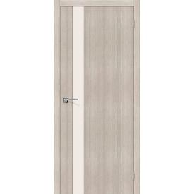 Полотно дверное остекленное Порта-11 60х200 см, эко шпон, Cappuccino в Калининграде