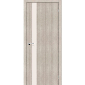 Полотно дверное остекленное Порта-11 70х200 см, эко шпон, Cappuccino в Калининграде