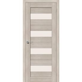Полотно дверное остекленное Порта-23 80х200 см, эко шпон, Cappuccino в Калининграде