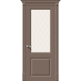 Полотно дверное остекленное Скинни-13 80х200 см, эмаль, мосса в Калининграде