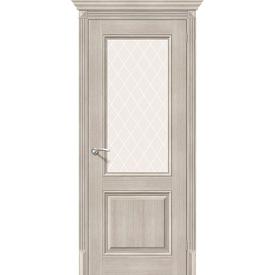 Полотно дверное остекленное Классико-33 80х200 см, эко шпон, Cappuccino в Калининграде
