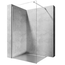 Ограждение для душа 100*195, стекло 8мм, профиль хром, кронштейн. Aero, Rea в Калининграде
