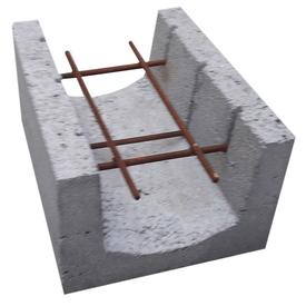 Блок U-образный керамзитобетонный 20х30х40 см Росдым в Калининграде