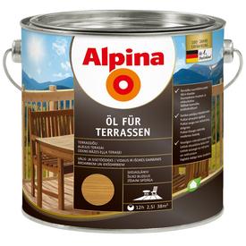 Масло терраcное Oel Fur Terrasen среднее 2,5 л Alpina в Калининграде