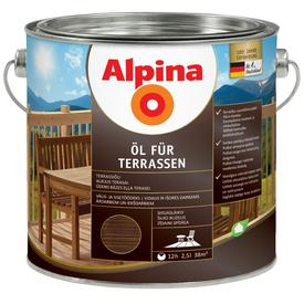 Масло терраcное Oel Fur Terrasen темное 2,5 л Alpina в Калининграде