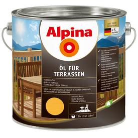 Масло терраcное Oel Fur Terrasen светлое 2,5 л Alpina в Калининграде