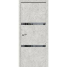 Полотно дверное остекленное Порта-55 4AF 60х200 см, эко шпон, Grey Art в Калининграде