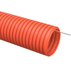 Труба гофрированная ПНД D 20 мм с зондом оранжевый (100м) ИЭК в Калининграде