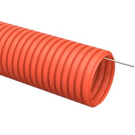 Труба гофрированная ПНД D 25 мм с зондом оранжевый (50м) ИЭК в Калининграде