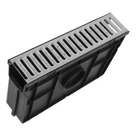 Пескоуловитель 500х116х320 мм пластиковый со стальной оцинкованной решеткой Light (08068) кл. А15, Gidrolica в Калининграде