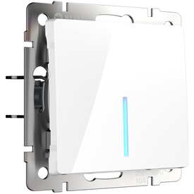 Механизм выкл. 1-кл прох. подсв. 10A белый WERKEL WL01-SW-1G-2W-LED в Калининграде