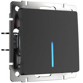 Механизм выкл. 1-кл подсв. 10A черный WERKEL WL08-SW-1G-LED в Калининграде