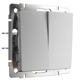 Механизм выкл. 2-кл прох. 10A серебро рифленый WERKEL WL09-SW-2G-2W в Калининграде