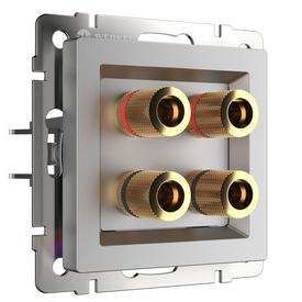 Механизм розетка 1-я AUDIO серебро рифленый WERKEL W1185009 в Калининграде