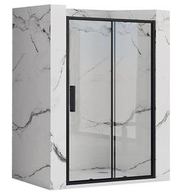Дверь для душа 120*195см, сдвижная, прозрачное стекло 6мм, черный профиль. Rapid slide. Rea в Калининграде