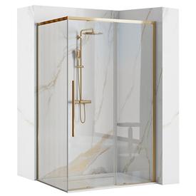 Душевой уголок 90х90x195см, стекло 6мм, прозрачное, золотой профиль. Solar Gold, Rea в Калининграде