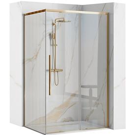 Душевой уголок 120х90x195см, стекло 6мм, прозрачное, золотой профиль. Solar Gold, Rea в Калининграде