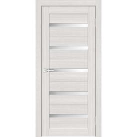 Полотно дверное остекленное Альфа 1 60х200 см, пвх, сандал светлый в Калининграде