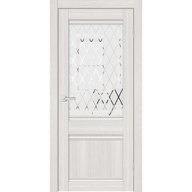Полотно дверное остекленное Альфа 3 60х200 см, пвх, сандал светлый в Калининграде